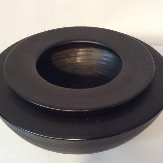 Vase ceramique noire mate