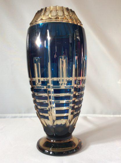 Vase Cristal Topaze Art Deco